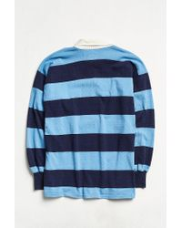 Urban Outfitters Vintage Canterbury Of New Zealand Blue Stripe Rugby Shirt for men