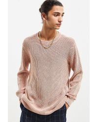 Urban Outfitters - Multicolor Uo Washed Distressed Crew Neck Sweater for Men - Lyst