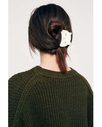 Urban Outfitters White Kitten Claw Hair Clip - Womens All
