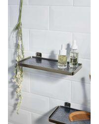 Urban Outfitters Metallic Glass & Silver Wall Shelf