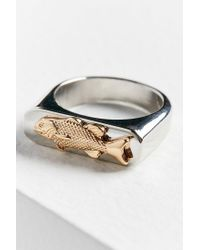 Urban Outfitters - Metallic Fish Signet Ring - Lyst