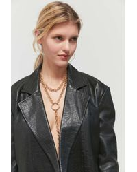 Urban Outfitters Metallic Rowe Layered Lariat Chain Necklace