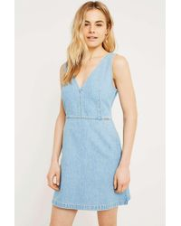 Calvin Klein Blue Denim Mini Dress
