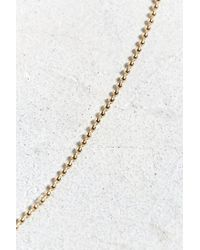 Urban Outfitters - Metallic Gold Shot Beaded Necklace - Lyst