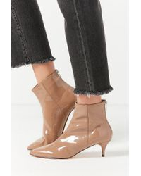 Urban Outfitters   Brown Bailey Patent Kitten Heel Ankle Boot   Lyst