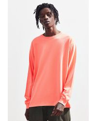 Urban Outfitters Red Pineapple Long Sleeve Tee for men