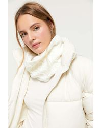 Urban Outfitters Multicolor Cable Knit Neck Gaiter Scarf
