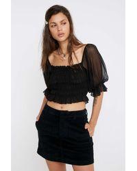 Urban Outfitters Black Minirock aus Breitcord