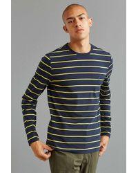 Nautica Blue Striped Long Sleeve T-shirt for men