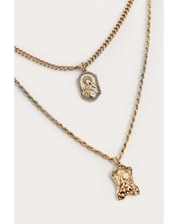 Urban Outfitters - Metallic Sovereign Pendant Layering Necklace - Lyst
