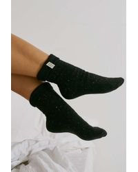 Urban Outfitters Black Uo Cosy Socks