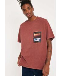 Urban Outfitters Red Uo Exotic Plains Burgundy T-shirt for men
