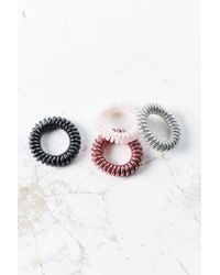 Urban Outfitters - Pink Telephone Cord Hair Tie Set - Lyst
