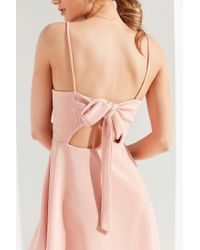 Urban Outfitters - Pink Uo Textured Tie-back Mini Dress - Lyst