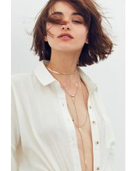 Urban Outfitters - Metallic Snake Chain Layering Necklace - Lyst