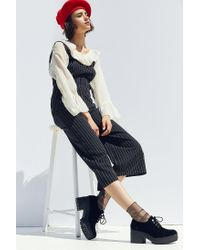 Urban Outfitters Black Sadie Velvet Bubble Toe Oxford