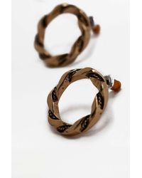 Urban Outfitters - Metallic Vintage Twist Circle Stud Earrings - Womens All - Lyst