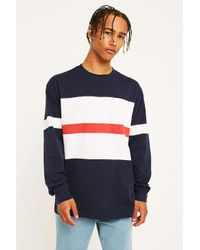Orsman Blue Bow Striped Navy Long-sleeve T-shirt for men