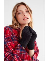 Urban Outfitters - Black Cable Knit Chenille-lined Glove - Lyst