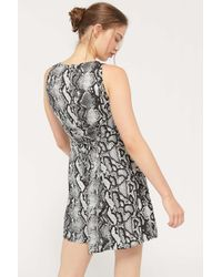 Urban Outfitters Multicolor Uo Arden Lace-up Back Mini Dress