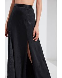 Urban Outfitters - Black Uo Jen Silky Slit Maxi Skirt - Lyst