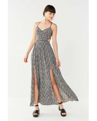 Urban Outfitters Uo Gia Black & White Maxi Dress