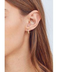 Urban Outfitters - Metallic 18k Gold + Sterling Silver Plated Huggie Hoop Earring - Lyst
