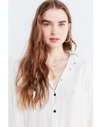 Urban Outfitters - White Uo Kaydence Button-down Tunic Top - Lyst