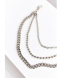 Urban Outfitters - Metallic Triple Chain Belt - Lyst