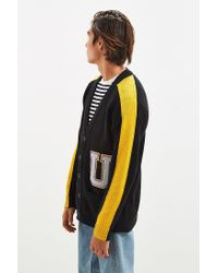 Urban Outfitters | Black Uo Varsity Cardigan Sweater for Men | Lyst