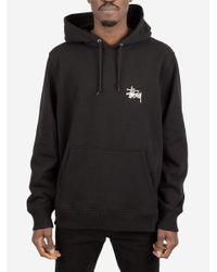 Felpa Basic Hood di Stussy in Black da Uomo