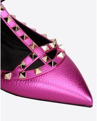 Valentino Multicolor Cage Colorblock Flat Ballet