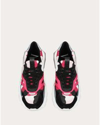 Valentino Garavani Purple Valentino Garavani Vltn Camouflage Low-top Bounce Sneaker
