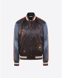 Valentino Black Fireworks Print Souvenir Jacket for men