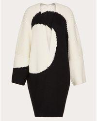 Maxicárdigan intarsiado de lana Valentino de color White