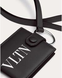 Portefeuille Tour De Cou Vltn Homme Noir Bovine Leather 100% OneSize Valentino Garavani Uomo pour homme en coloris Black
