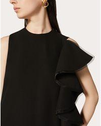 Abito Da Sera In Cady Couture Con Rouches di Valentino in Black