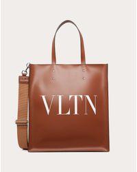 メンズ Valentino Garavani Valentino Garavani Vltn レザー ショッピングバッグ Brown