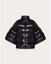 Valentino Black Duvet Couture Padded Jacket