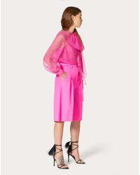 Bermuda In Light Wool di Valentino in Pink