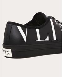 Valentino Garavani Sneakers De Lona Con Estampado Vltn Valentino de hombre de color Black