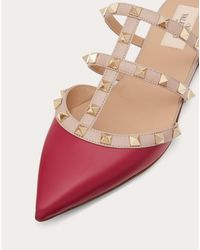 Valentino Garavani Pink Mules Rockstud Aus Kalbsleder