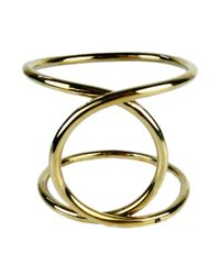 Alyssa Norton   Twisted Brass Bracelet With Black Diamond   Lyst