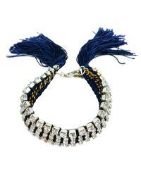 Alyssa Norton | Metallic Hand Dyed & Braided Rhinestone Bracelet | Lyst