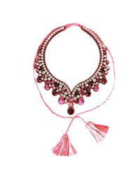 Shourouk | Red S Necklace | Lyst