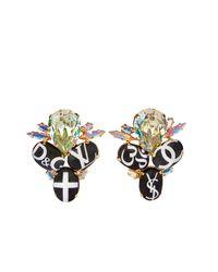 Bijoux De Famille   Multicolor Holy Fashion Stud Earrings   Lyst