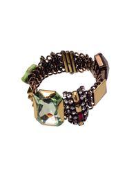 Iosselliani | Metallic Crystal Bracelet | Lyst