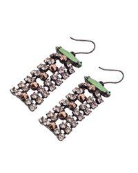Iosselliani | Green Swarovski Rhinestone Earrings | Lyst