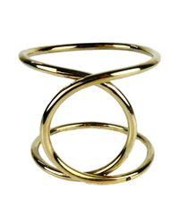 Alyssa Norton - Twisted Brass Bracelet With Black Diamond - Lyst