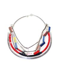 Alyssa Norton | Red Shapes And Chains Necklace | Lyst